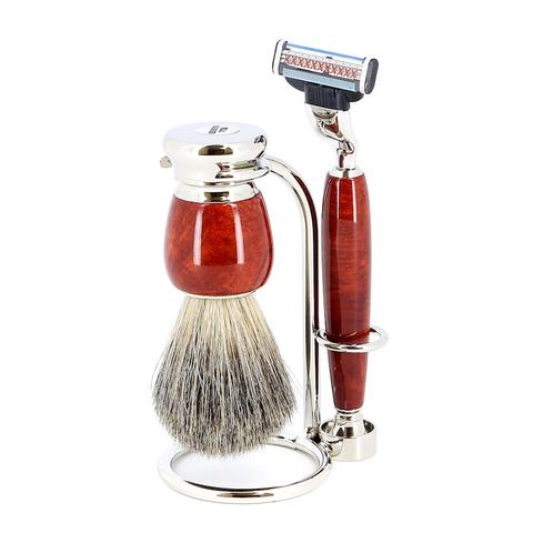 Бритвенный набор S.Quire 6799 красно-коричневый