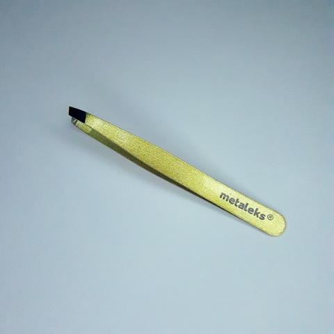 Пинцет для бровей скошенный, RT-346, 10 см.