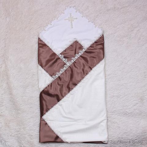 Крыжма нарядная торжественная Жемчуг (шоколад)