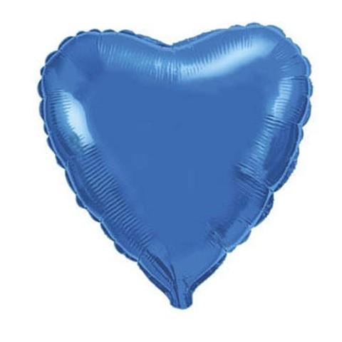 Сердце Металлик Синий (46 см)