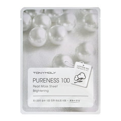 Tony Moly Pearl Mask Sheet Pure Energy 100 - Осветляющая тканевая маска лица с экстрактом жемчуга