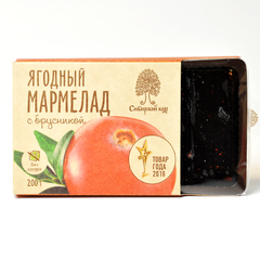 Мармелад Ягодный с брусникой  Сибирский кедр 200 г