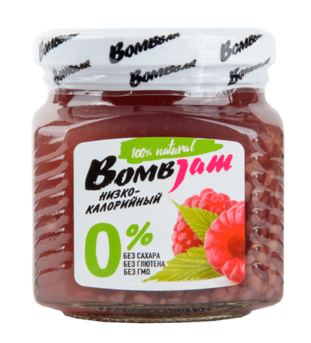 Низкокалорийный джем Bombbar Малина, 250 гр