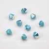 5328 Бусина - биконус Сваровски Turquoise AB 4 мм, 10 штук