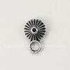Бейл текстурный 12х8х5 мм (цвет - античное серебро)