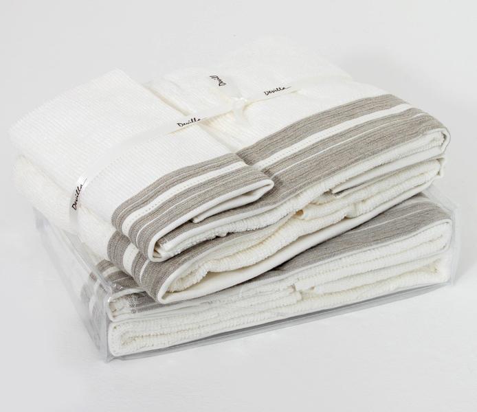 Набор полотенец 3 шт Devilla Brest белый