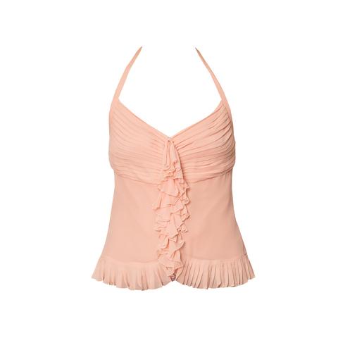 Изысканный топ из шелка розового цвета от Chanel, 38 размер.