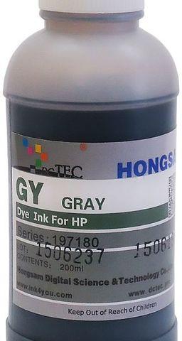 Чернила водные DCTec DCD-T610 grey 200мл. Для HP T610, T1100, T1120. Серия 197180