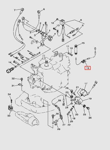 Соединитель проводов  для лодочного мотора T40 Sea-PRO (10-16)