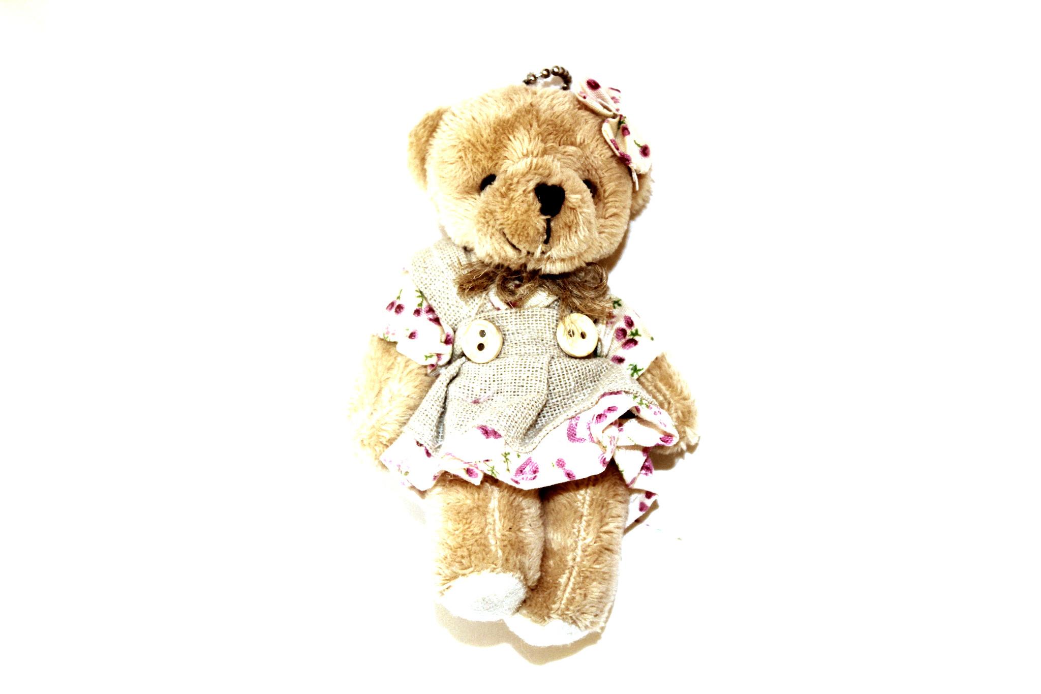 Игрушка мини медведь девочка .