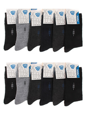 F506 носки мужские 40-47 (12шт), цветные