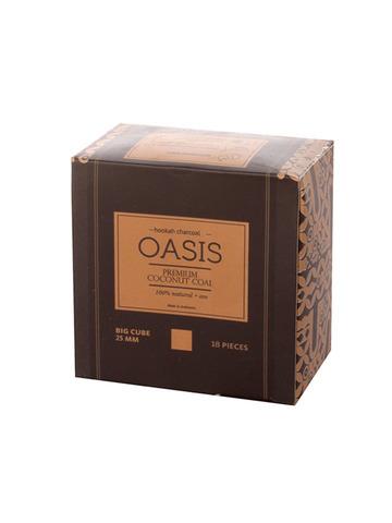 Уголь кокосовый Oasis Premium 25 мм. (18 шт, 0.25 кг.)