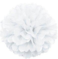 Помпон из бумаги 30 см белый