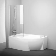 Шторка для ванны Ravak Rosa 160-170 R Ravak хром Transparent