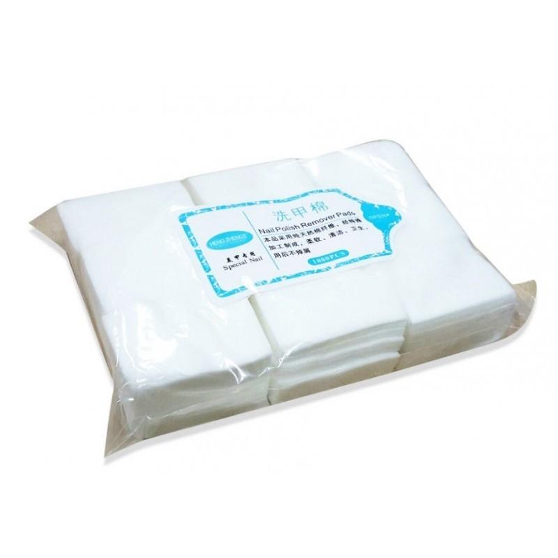 Безворсовые салфетки мягкие для маникюра (в упаковке 1000шт.)