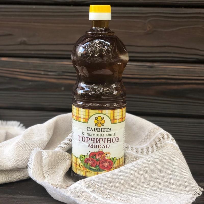 Фотография Масло горчичное нерафинированное (Волгоград), 1 л. купить в магазине Афлора