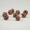 Бусина металлическая - биконус 7х6 мм (цвет - античная медь), 10 штук