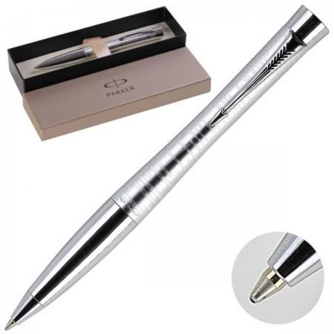 1906870 Parker Urban Premium Vacumatic Silver Blue Pearl Шариковая ручка