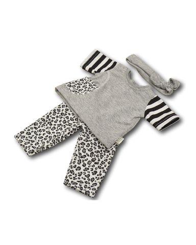 Трикотажный костюм - Серый. Одежда для кукол, пупсов и мягких игрушек.