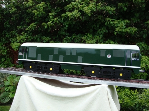 Garden Rail Тепловоз Класса 24-РН на колею 12,7 см, электрический