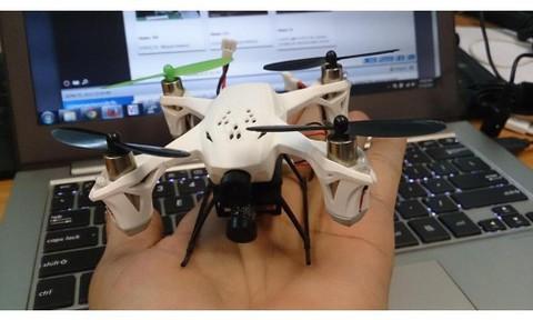 Радиоуправляемый вертолет (квадрокоптер) Hubsan X4 mini FPV H107D с транслирующей видеокамерой [H107D]