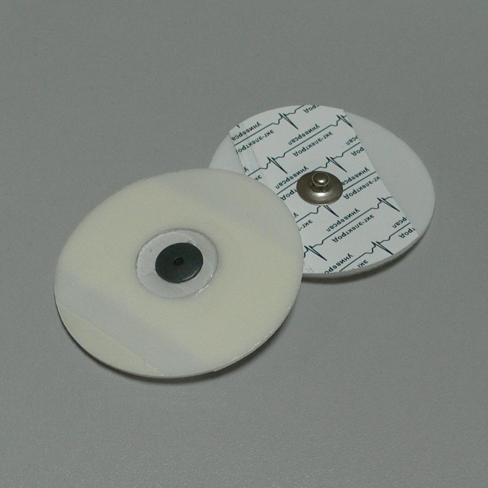 Электрод ЭКГ 60мм, одноразовый, универсал, Россия (7.0 руб/шт)