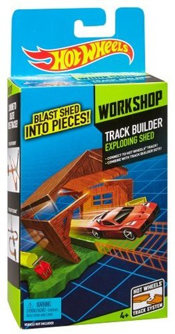 Hot Wheels Track Builder Exploding Shed Stunt Pack