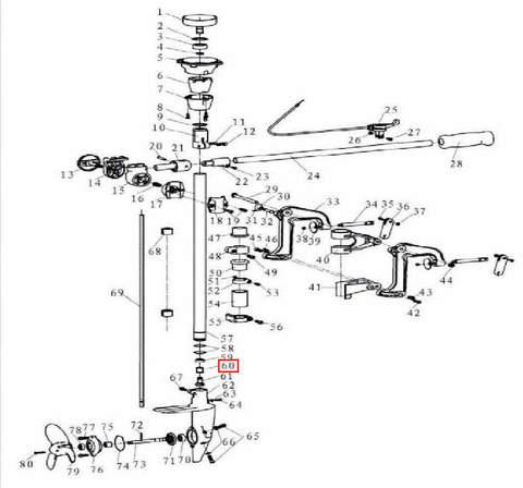 Втулка вертикального вала для лодочного мотора T3,5 Sea-PRO