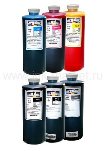 Комплект чернил STS - 6х1л для HP Designjet T1100, T1100ps, T1120, T1120ps, T1200, T1300, T2300, T610, T620, T770, T790