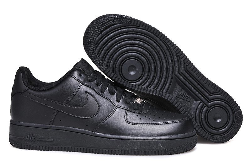 Nike Air Force 1 Mid '07 Low (all black) - (002)