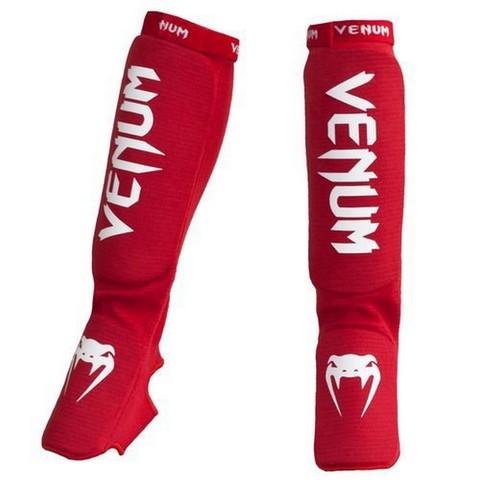 Щитки Venum Kontact Shinguards and insteps Cotton Red