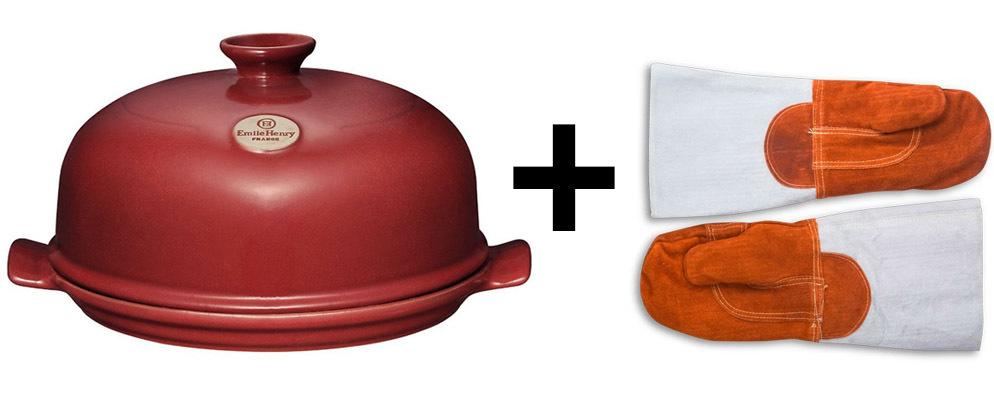 Набор Форма с куполом и рукавицы (Emile Henry и Matfer)