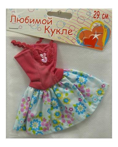 Платье летнее - Розовый. Одежда для кукол, пупсов и мягких игрушек.