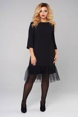 Платье с воздушным воланом 2040