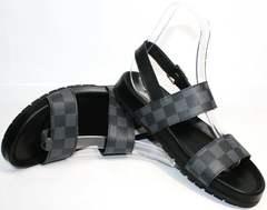 Летние мужские сандали Louis Vuitton 1008 01Blak.