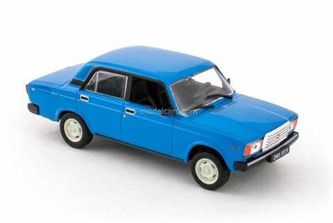 VAZ-2107 Lada blue 1:43 DeAgostini Kultowe Auta PRL-u #79