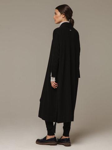 Женский черный кардиган из 100% кашемира - фото 3