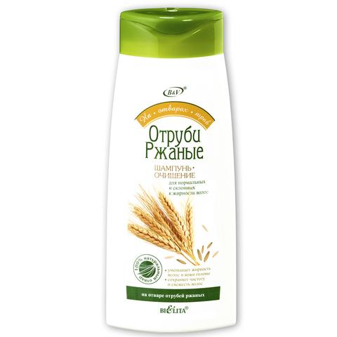 Белита На Отварах Трав Шампунь-очищение Отруби ржаные для нормальных и склонных к жирности волос 480мл
