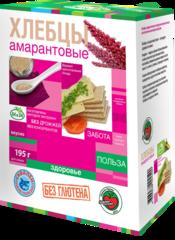 Хлебцы амарантовые, Di&Di, кукурузно-рисовые, в ассорт., 195 г.
