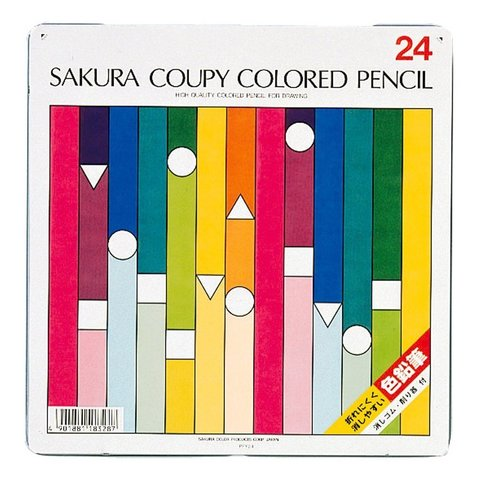 Цветные карандаши Sakura Coupy Colored Pencil (24 шт.)