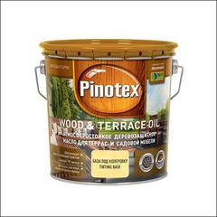 Масло для защиты садовой мебели и террас Pinotex WOOD & TERRACE OIL (бесцветный)