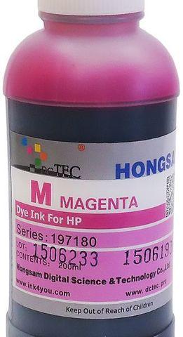 Чернила водные DCTec DCD-T610 magenta 200мл.  Для HP Designjet T120, T520, T610, T1100, T1120. Серия 197180