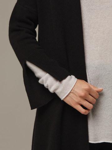 Женский черный кардиган из 100% кашемира - фото 4