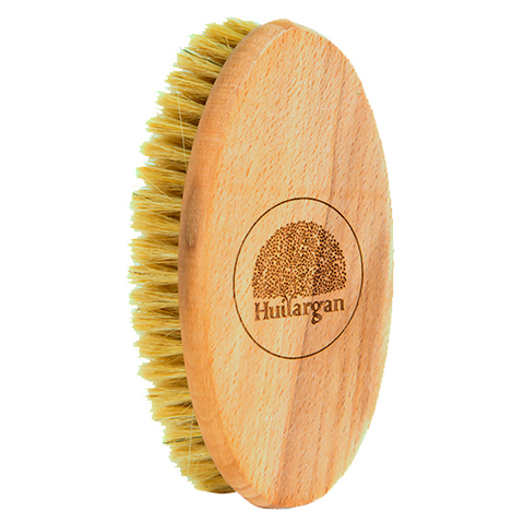 Деревянная щетка для тела с щетиной из кактуса тампико, Huilargan