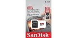MicroSDHC 32GB SanDisk Ultra UHS-I U1 (SD адаптер) в упаковке