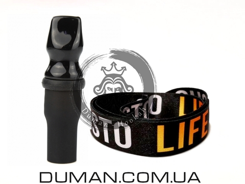 Персональный мундштук Gusto Bowls (Густо Болс)  Black Gusto Life