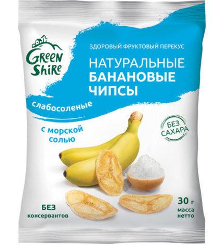 Банановые чипсы, слабосоленые с морской солью, 30г