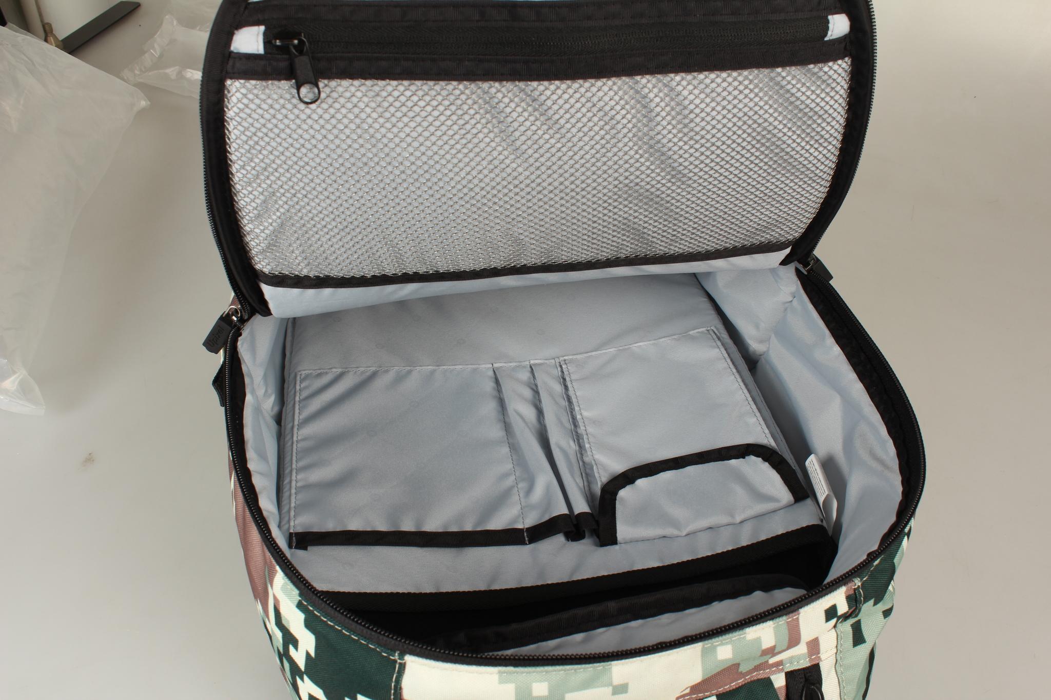 Школьный пиксельный рюкзак Camouflage черно-коричневый