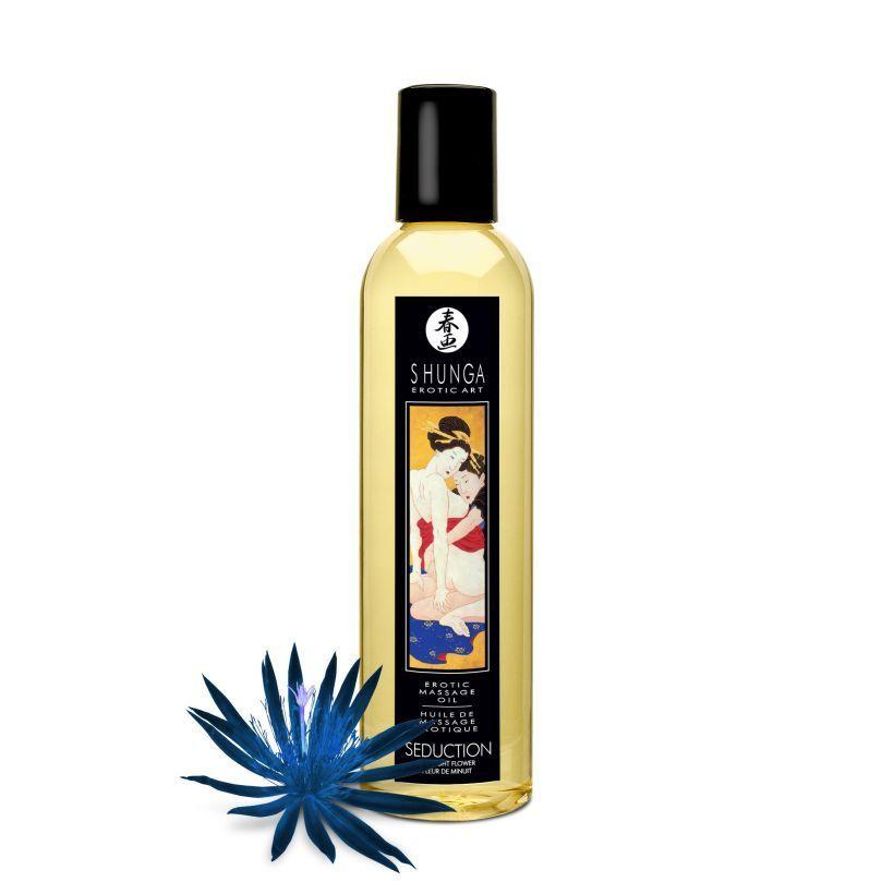 Массажные масла и свечи: Массажное масло с ароматом ночных цветов Seduction Midnight Flower - 250 мл.