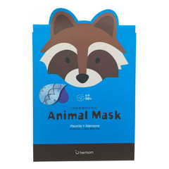 Berrisom Animal Mask Series Raccoon - Маска тканевая с экстрактом плаценты